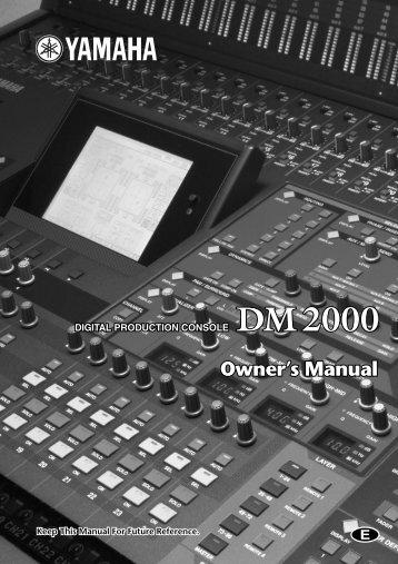 Yamaha DM2000 | PDF - SRTalumni.com