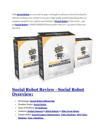 Social Robot Review - $24,700 BONUS & DISCOUNT