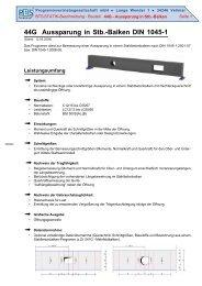 44G Aussparung in Stb.-Balken DIN 1045-1