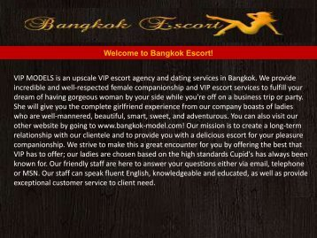 Escorts in Bangkok