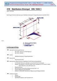 41E Stahlbeton-Drempel DIN 1045-1