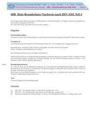 60B Holz-Brandschutz-Nachweis nach DIN 4102 Teil 4
