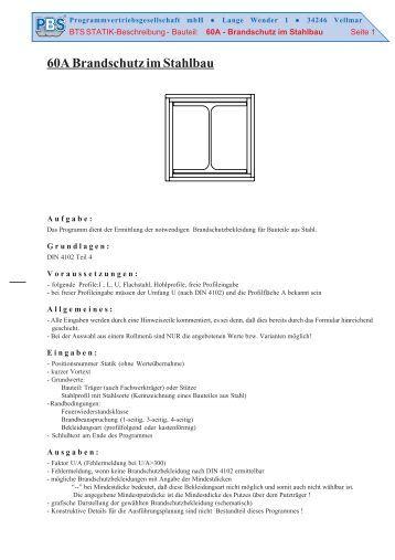 Rippen programmvertri for Stahlbau statik beispiele