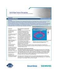 Solid Edge Feature Recognizer - PBU Cad-Systeme