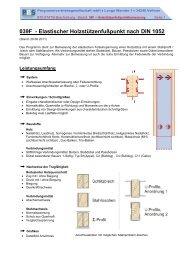 039F - Elastischer Holzstützenfußpunkt nach DIN 1052