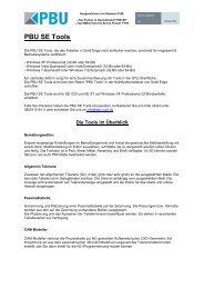 PBU SE Tools - PBU Cad-Systeme