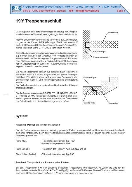 19 Y Treppenanschluß - PBS Programmvertriebs GmbH