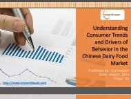 Consumer Trends and Drivers of Behavior in the Chinese Dairy Food Market