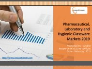 Pharmaceutical, Laboratory and Hygienic Glassware Markets 2019