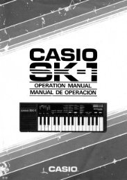 Casio SK-1 Keyboard Owner's Manual - Electro-music.com