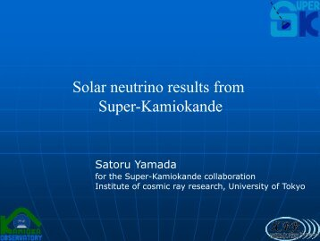 Solar neutrino results from Super-Kamiokande - THE PHYSICS OF ...