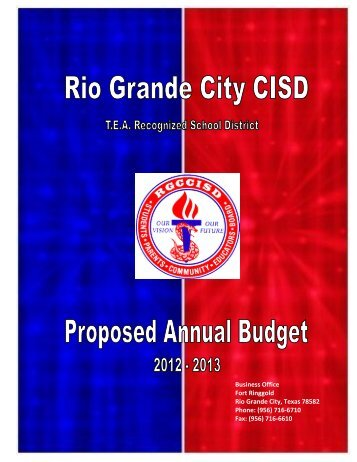 2012-2013 Proposed Annual Budget - rgccisd