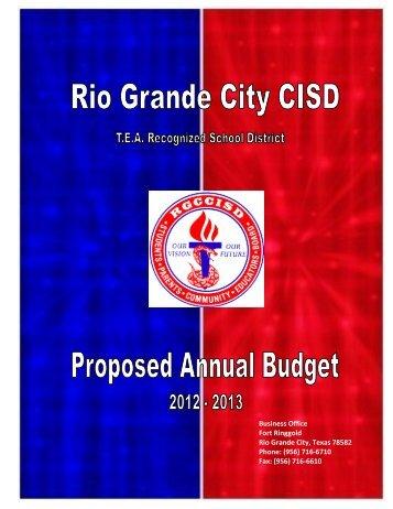 2012-2013 Proposed Annual Budget - rgccisd