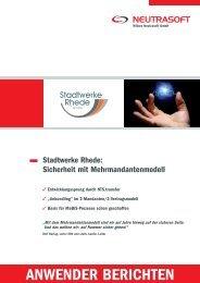 Anwenderbericht Stadtwerke Rhede - Wilken Neutrasoft GmbH