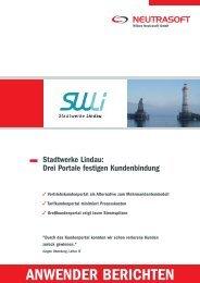 Anwenderbericht Stadtwerke Lindau - Wilken Neutrasoft GmbH