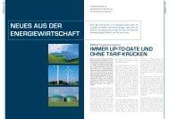 NEUES AUS DER ENERGIEWIRTSCHAFT - Wilken GmbH