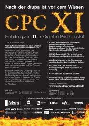 Einladung zum 11ten Crefelder Print Cocktail Nach der drupa ist vor ...