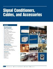 Signal Conditioners, Cables, and Accessories ... - PCB Piezotronics