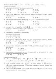 Odchylky a vzdálenosti - konzultační příklady (pdf)