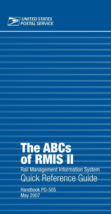 Handbook PO-505 - The ABC's of RMIS II Rail Management - APWU