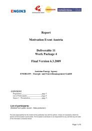 Report Motivation Event Austria Deliverable 11 ... - Engine-sme.eu