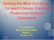 Getting the Most Out of your Co-teach Classes - Texas Center for ...