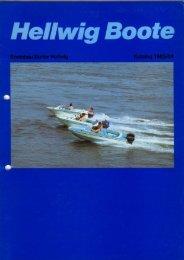 Gesamtkatalog 1984 - Hellwig Boote