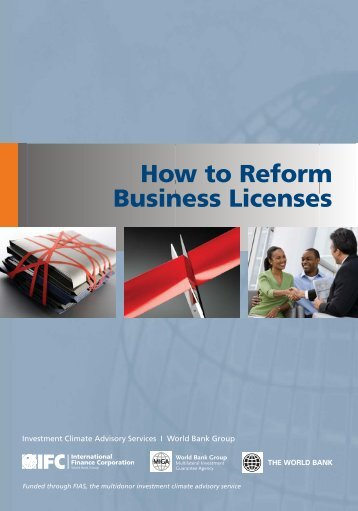 How to Reform Business Licenses (2010) - Investment Climate
