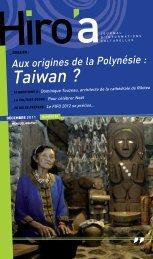 Aux origines de la Polynésie : Taiwan - ICA