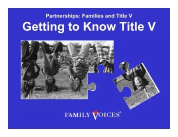 Getting to Know Title V