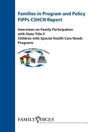 Families in Program and Policy FiPPs CSHCN Report