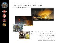 Fire Service & the Counterterrism Mission 6.6.13