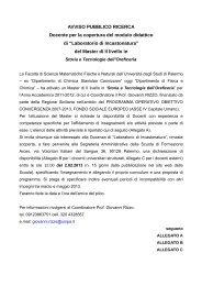 bando docente Incastonatura II ed - Storia e Tecnologia dell ...