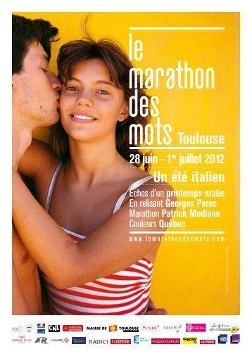 28 juin - 1er juillet 2012 Toulouse - Le marathon des mots