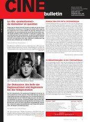brèves/kurz - Cine-Bulletin