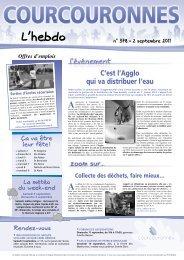 L'Hebdo n°378 (2 sept. 2011) - Courcouronnes