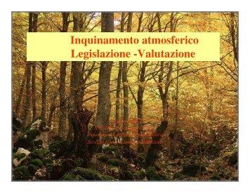 Inquinamento Atmosferico 2007 - Università dell'Insubria