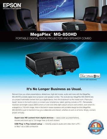 MegaPlex™ MG-850HD