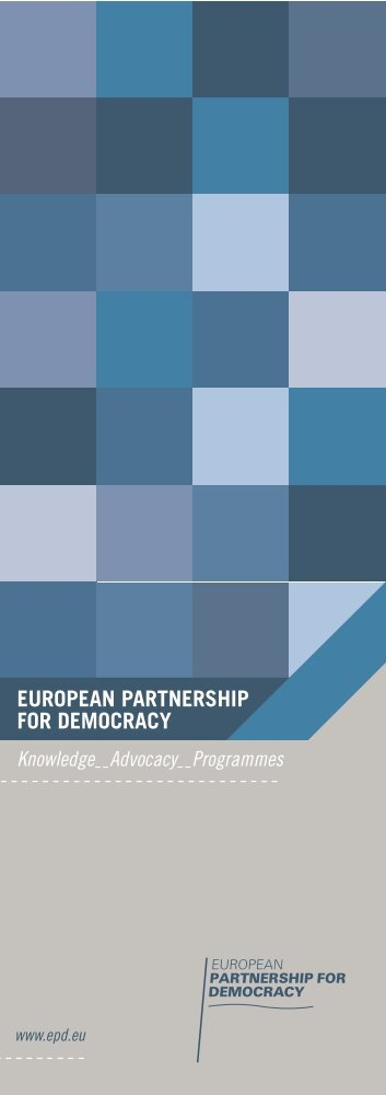 EPD leaflet - European partnership for democracy, EPD