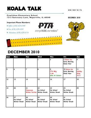 Koala Talk: December 2010 - Cowlishaw Elementary School