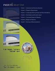 Pizzuti Solutions City Hall Project Report - City of Las Vegas