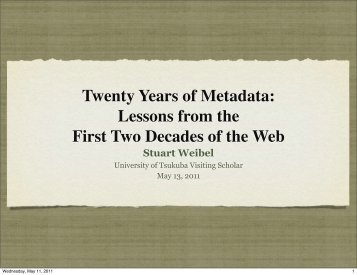 Twenty Years of Metadata: Lessons from the First Two Decades of ...