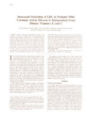 Increased Oxidation of LDL in Patients With Coronary Artery ...