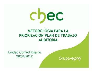 Presentación del Plan de Auditoria Basada en Riesgos - Chec