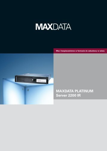 MAXDATA PLATINUM Server 2200 IR