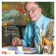 elebrating the arc of a life arc of westchester annual report 2012