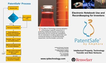 Electronic Laboratory Notebook - Rensselaer Office of Technology ...