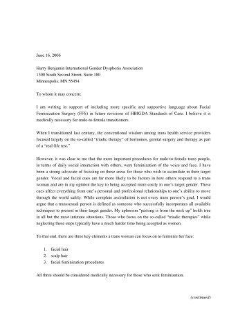 Sample letter of medical necessity for etion letter to hbigda on medical necessity of ffs transsexual road spiritdancerdesigns Images