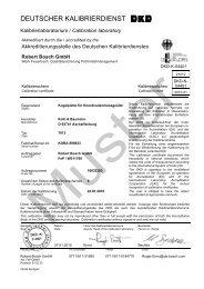 Muster-DKD-Kalibrierschein für Endmaße - Bosch-Kalibrierdienst