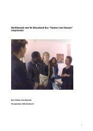 Kamers met Kansen, werkbezoek Woonateliers met NL Nieuwlandbus